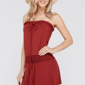 Strapless Smock Dress