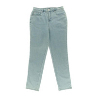 Style & Co. Womens Tapered Leg Tummy Control Straight Leg Jeans