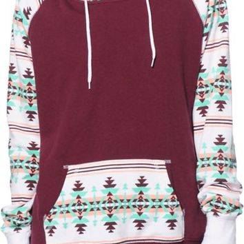 Empyre Larissa Blackberry & Multi Tribal Hoodie