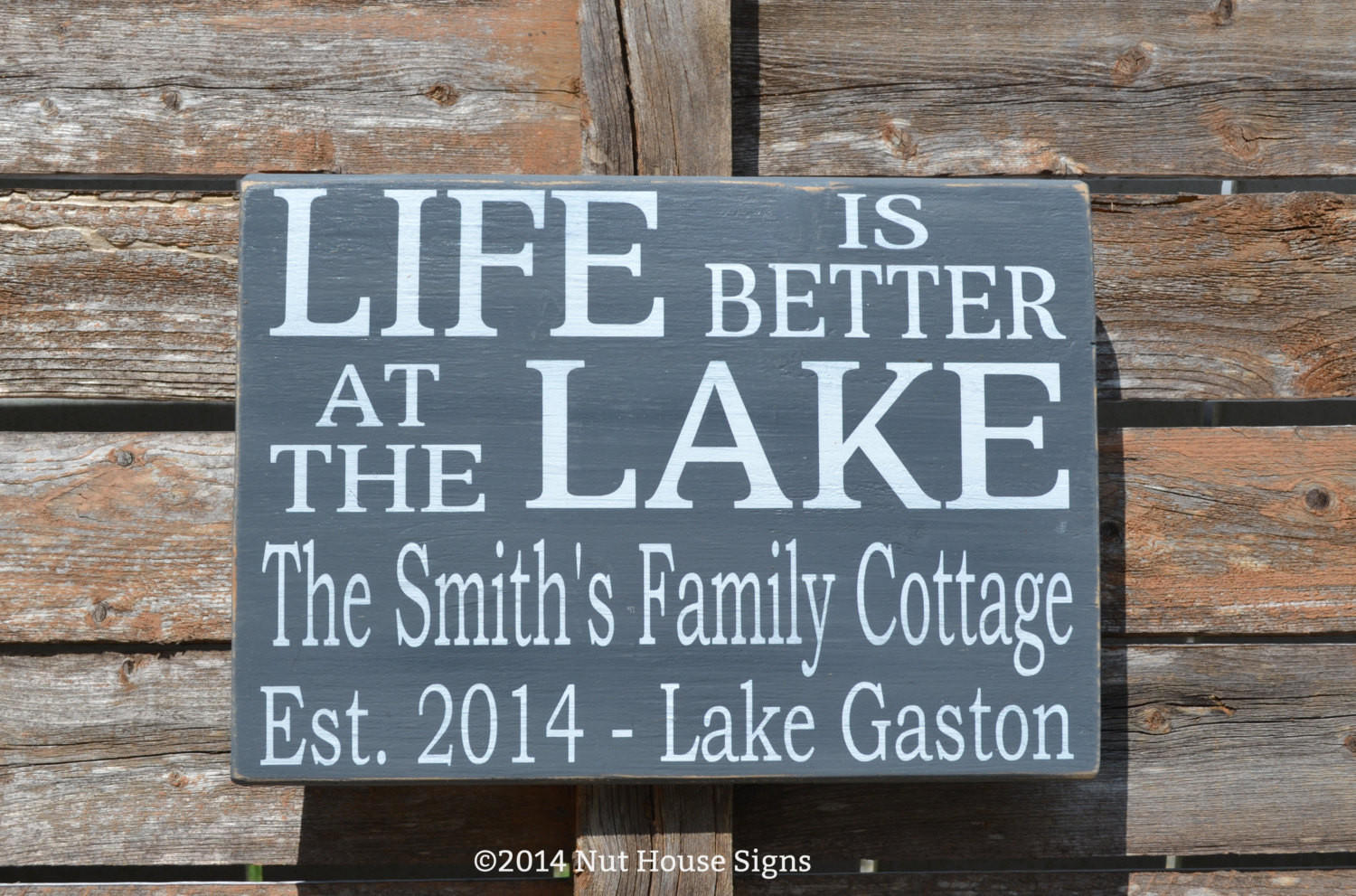 Lake Sign Personalized Family Name Sign From