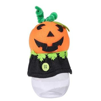 Halloween Party Candy Jar Pumpkin Box Kids Creepy Can Cute Food Packaging Bottl