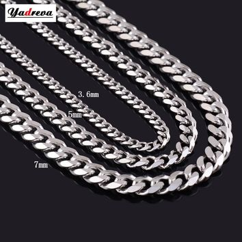 3.5mm/5mm/7mm Waterproof Stainless Steel Chain Necklace