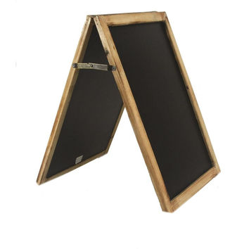 Vintage Medium Sized Free Standing Wood Frame Two-Sided Chalkboard - 10-in