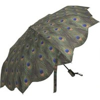 Amazon.com: Galleria Peacock Auto Open/Close Super-mini Umbrella - Peacock: Clothing