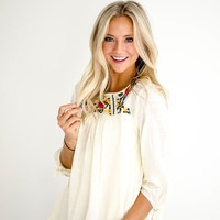 Tularosa Embroidered Blouse in Cream
