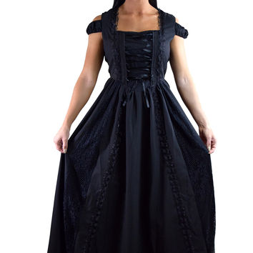shop black witch dress on wanelo