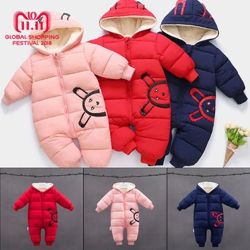 Winter Jumpsuit Baby Winter Clothes Newborn Snowsuit Boy Warm Duck Down Cotton Snowsuit Girl Clothes Bodysuit Hooded Clothing