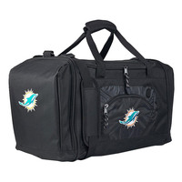 Miami Dolphins NFL Roadblock Duffle Bag (Black)