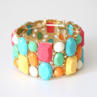 Color Block Gem Bangle