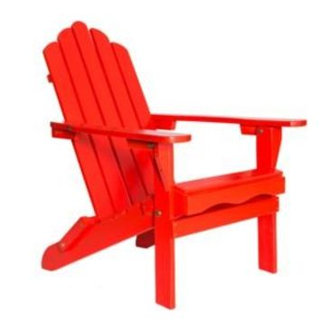 Folding Red Wood color Adirondack Chair  Size 38H X 28 X 28