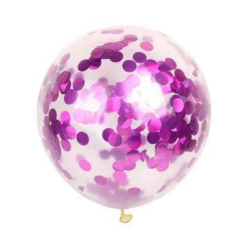 10pc 11 inch Clear Colorful Confetti Balloon