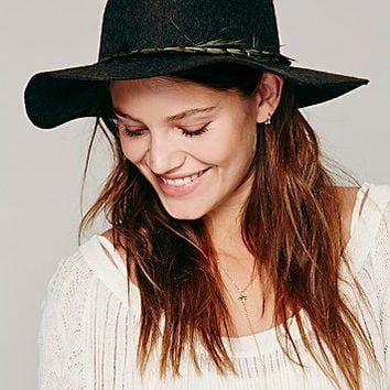 Free People Womens Embellished Band Brimmed Hat