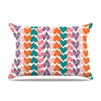 "Louise Machado ""Hearts"" Pillow Case"