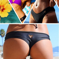 Womens Lady Sexy Bikini Heart Cut Out Bottom Beach Swimsuit Swimwear Brazilian Bottoms = 1946094980