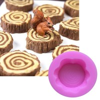 1pcs Tree Wooden Stake Cake Silicone Mold For Decorating Fondant Cake Sugarcraft Soap Mould Pastry Tools DIY Free Shipping 1659
