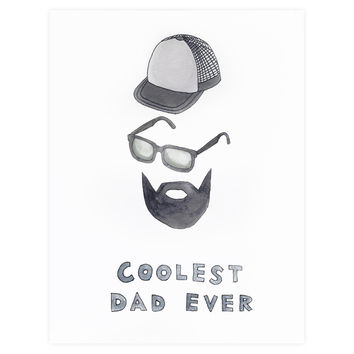 Coolest Dad Ever Father's Day Card