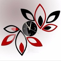 hot sale diy Acrylic mirror wall clock stickers Modern decor Living Room gift home furniture sticker free shipping