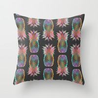 Pineapple Express Throw Pillow by Schatzi Brown