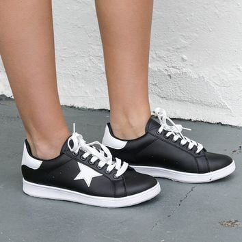 Just Like You Black White Star Sneaker