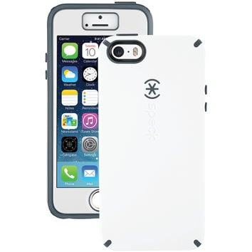 SPECK 71131-B860 iPhone(R) 5/5s CandyShell(R) Case + Faceplate (White/Charcoal Gray)