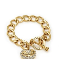 Pave Banner Heart Starter Bracelet by Juicy Couture
