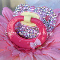 Nuk Bling Pink Rhinestone Baby Pacifier Dummy
