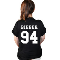 Justin Bieber D.O.B. American Varsity Football Jersey Style T Shirt