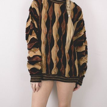 Vintage Coogi Inspired Neutral Sweater