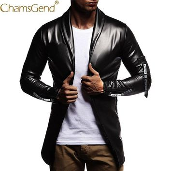 Free Shipping Men Leather Jacket Cool Fashion Slim Coat Men PU Leather Bomber Jackets Motorcycle Streetwear 80905