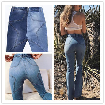 High Waist Slim Ladies Jeans [11716874831]