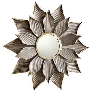 Large Blossom Starburst Wall Mirror by Cyan Design
