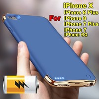 3500mAh/4000mAh/5500mAh Luxury Outdoor Portable Traveling Battery External Charger Backup Power Bank Back Clip Case Cover for Ip