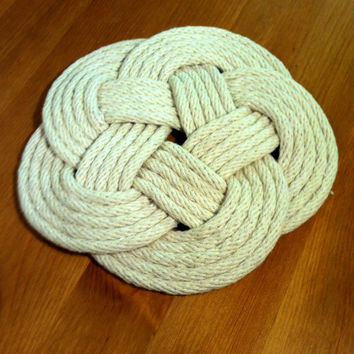 Nautical Cotton Rope Hot and Cold Kitchen Surface Trivet