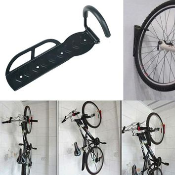 Strong Steel Cycling Bicycle Storage Rack Wall Mounted Bike Hanger Hook Rack Holder with Screws 30kg Mountain MBT Road Bike Hold