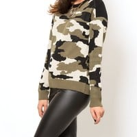 Army Camouflage Sweater from Generation Love  at Edith Hart - Edith Hart