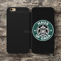 Wallet Case For iPhone 6S Plus 5S SE 5C 4S case, Samsung Galaxy S3 S4 S5 S6 Edge S7 Edge Note 3 4 5 Lady Gaga Haus of Gaga Cases