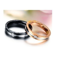 """Wonderful World"" Couples SS Rings - (C-RIN-1040)"