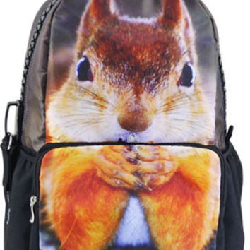 Squirrel Print Large Backpack