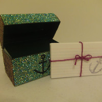 Bedazzled Anchor Recipe Box