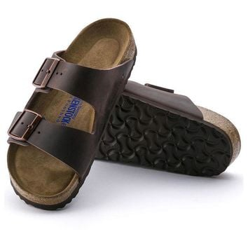 Sale Birkenstock Arizona Soft Footbed Oiled Leather Habana 0452761/0452763 Sandals