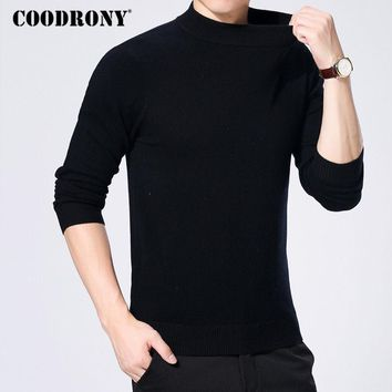 COODRONY Cashmere Sweater Men Merino Wool Pullover Men Winter Thick Warm Turtleneck Men Sweaters Casual Plus Size Pull Homme 327