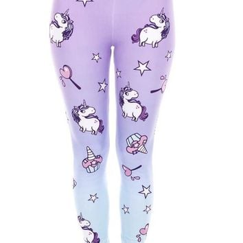Unicorn High Waist Women Leggings XS-L