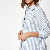 LA Hearts Long Sleeve Striped Button Down Top at PacSun.com