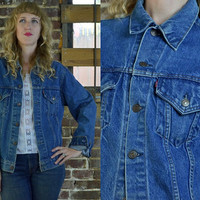 Vintage 80's Two Pocket Levi's Denim Indigo Jean Jacket