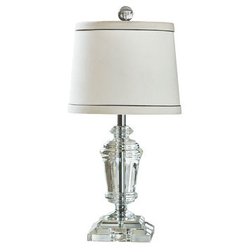 Regina-Andrew Design, Mini Crystal Urn Table Lamp, Clear, Table Lamps