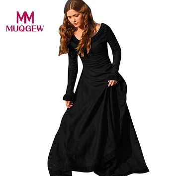 MUQGEW Best Sale Women Vintage Medieval Dress Cosplay Costume Princess Renaissance Dress christmas dress vestido longo