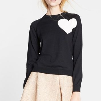 Women's MSGM Heart Intarsia Knit Sweater,