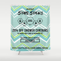 Shower Curtain Promo by ALLY COXON   Society6