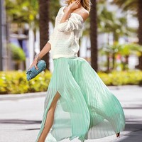 Pleated Maxi Skirt - Victoria's Secret