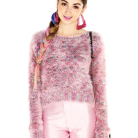TEXTURE STRANDS SWEATER